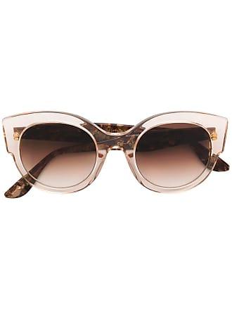 Emmanuelle Khanh round oversized sunglasses - Neutro