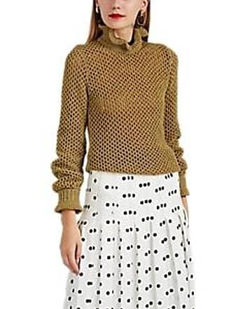 cb3b3dff2d20f3 Philosophy di Lorenzo Serafini Womens Metallic Mesh-Knit Sweater - Gold  Size 40 IT