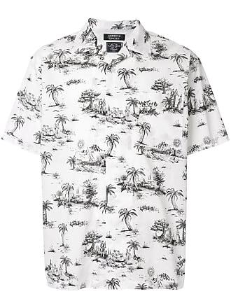 Loveless Camisa com estampa de palmeiras - Branco