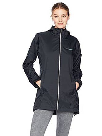 Columbia Womens Switchback Lined Long Jacket, Black, Small