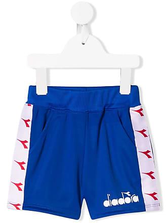 Diadora Short com logo - Azul