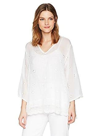 Johnny Was Womens Charming Tunic, White M