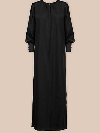 L'autre Chose DRESS IN BLACK SATIN WITH CUT-OUT SLEEVE