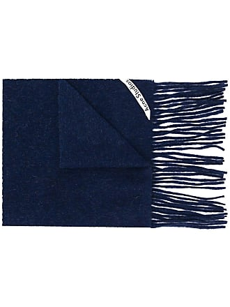 Acne Studios Canada Skinny fringed scarf - Azul