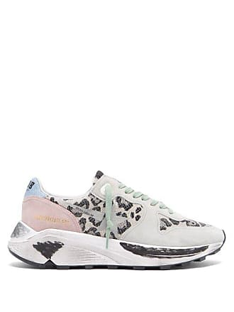 1d79963ef743 Golden Goose Running Leopard Jacquard Low Top Trainers - Womens - White  Multi