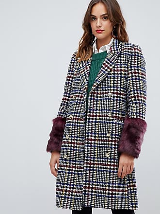 Y.A.S heritage fur trimmed coat - Multi