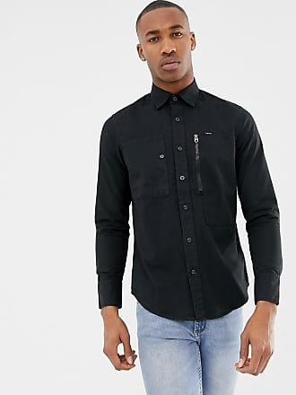 G-Star Powel slim shirt in black - Black