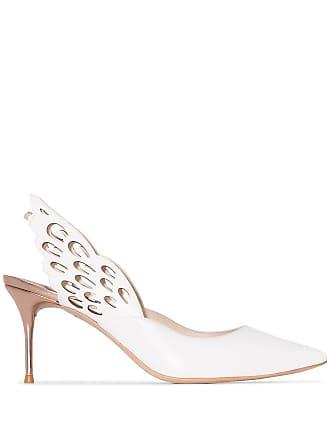 Sophia Webster Sapato com fixação no tornozelo Angelo 70mm - Branco