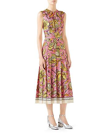 98ec1176ba Gucci Sleeveless Watercolor-Floral Silk Midi Dress