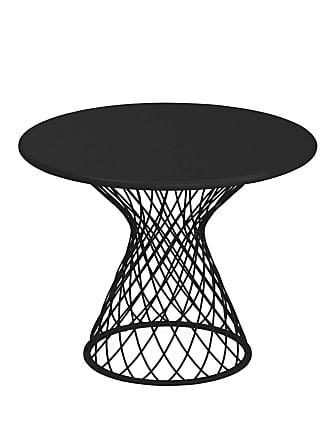 Emu Heaven Garten-Beistelltisch Stahl Ø60cm - schwarz/lackiert/H x Ø 47x60cm