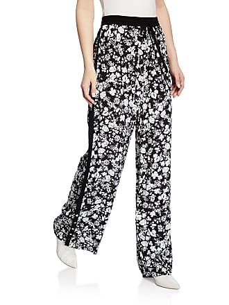 Yigal AzrouËl Celosia Floral Snap-Button Track Pants