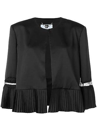 Blumarine pleated detail jacket - Preto