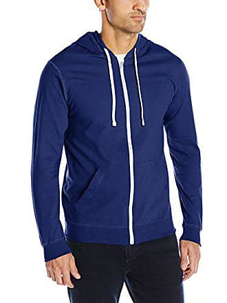 Fruit Of The Loom Mens Jersey Full-Zip Hood, Admiral Blue, X-Large