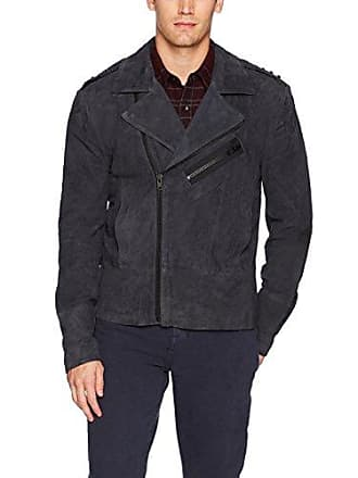 Joe's Mens Oversized Suede Moto, Night Shade, M