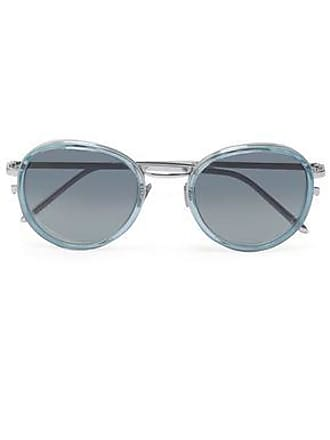3126d57d0b Linda Farrow Linda Farrow Woman Round-frame Acetate And Silver-tone  Sunglasses Sky Blue