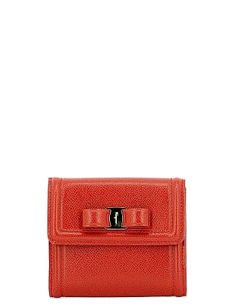 4811d82e04 Salvatore Ferragamo WOMENS 673759 RED LEATHER WALLET
