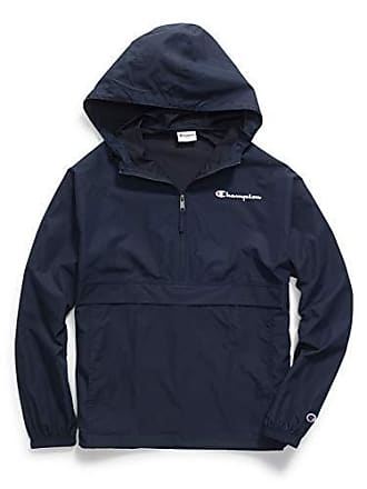 Champion Mens Packable Jacket, Navy, Large
