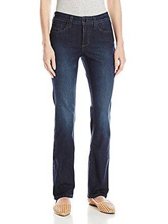 NYDJ Womens Petite Marilyn Straight Jeans in Premium Lightweight Denim, Burbank Wash, 12P