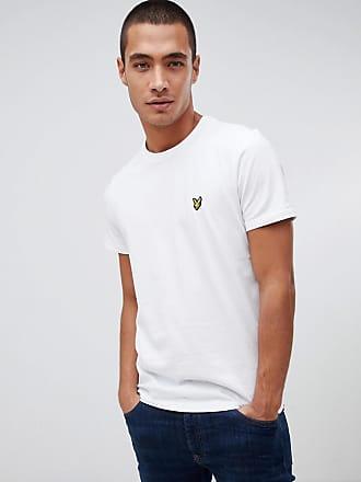 Lyle & Scott T-shirt bianca con logo-Bianco