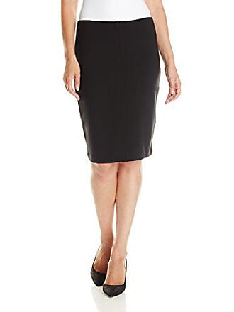 Joan Vass Womens Pencil Skirt, Pitch Black, 1
