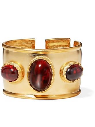 Kenneth Jay Lane Gold-plated And Tortoiseshell Resin Cuff