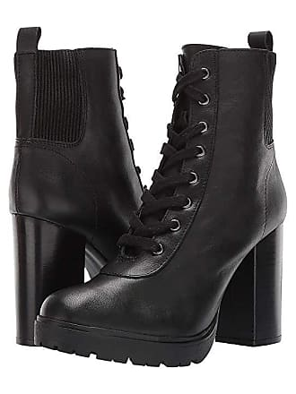 696705b39eb Steve Madden Latch Combat Boot (Black Leather) Womens Boots