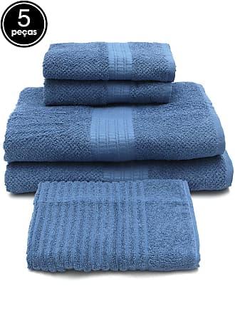 Buddemeyer Jogo de Banho Buddemeyer 5 Pçs Frape Azul 70x135