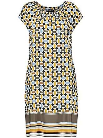 cdf5ddc25cca8d Taifun Damen Sommerkleid Mit Allover-Print Figurumspielend Curry Gemustert  38
