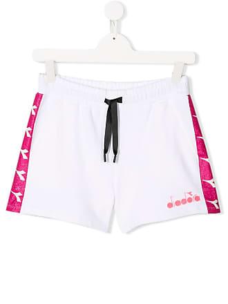 Diadora logo band track shorts - Branco