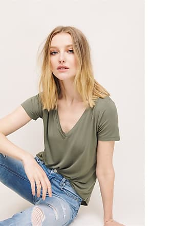 Dynamite V-Neck Tee Secret Island Green