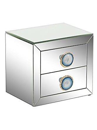 UMA Enterprises Inc. Deco 79 87386 Jewelry Box, Blue, Reflective