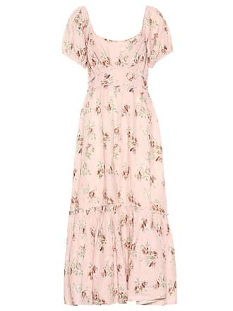 LoveShackFancy Angie floral linen dress