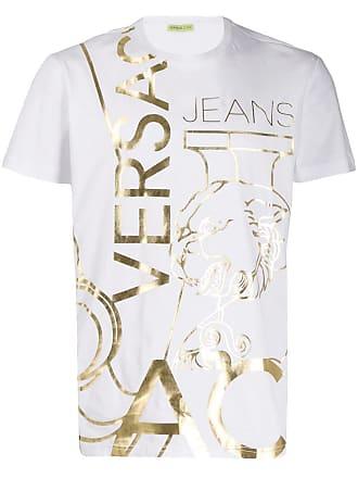 efea09cf522 Versace Jeans Couture metallic print T-shirt - White