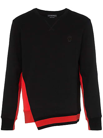 Alexander McQueen contrasting panel asymmetric hem jumper - Black