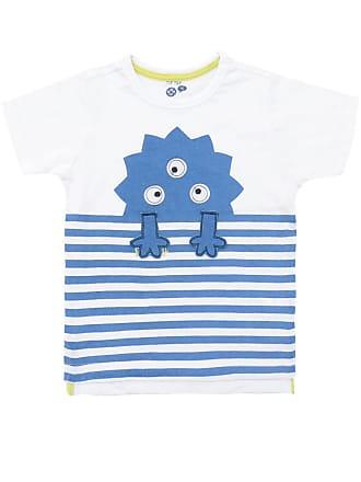 Tip Top Camiseta Tip Top Menino Monstrinho Branca/Azul