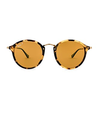 Ray-Ban Round Fleck Pop in Yellow