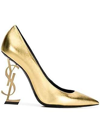 35588034f9f515 Saint Laurent Damen 4720110Xqjj8030 Gold Leder Pumps