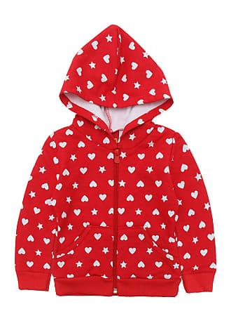 KYLY Jaqueta de Moletom Kyly Menina Coração Vermelha