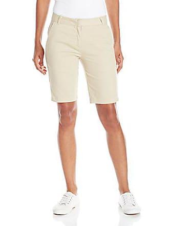 Izod Juniors Uniform Stretch Twill Skinny Bermuda Short, Khaki, 15