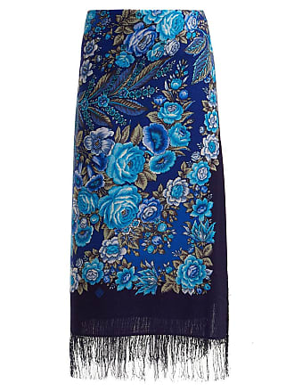 3a64db4669 VETEMENTS Blue Womens Foulard Scarf Skirt - The Webster