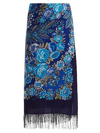 3a64db4669 VETEMENTS Blue Womens Foulard Scarf Skirt - The Webster