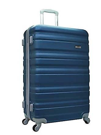 Yin's Mala de Viagem Média ABS c/Carrinho 360° Azul YS21020A-M