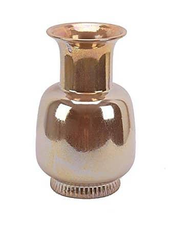 Sagebrook Home 11938 Ceramic Urn Vase, Antique Gold Ceramic, 8.25 x 8.25 x 13.25 Inches