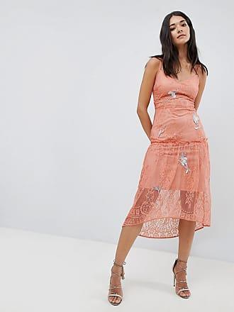 Hope   Ivy Vestito in pizzo ricamato con spalline sottili - Arancione 31fee75e9d7