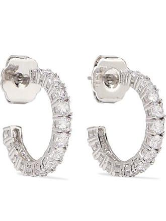 Kenneth Jay Lane Rhodium-plated Cubic Zirconia Hoop Earrings - Silver