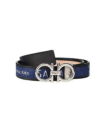 Salvatore Ferragamo Adjustable Belt - 67A029 (Navy) Mens Belts