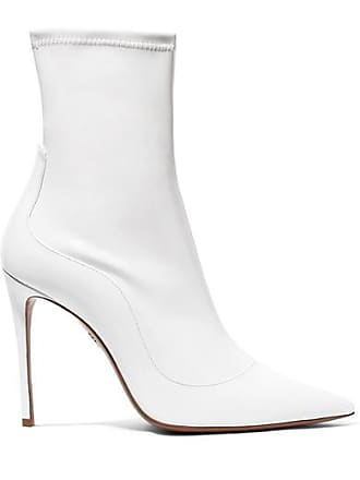 Aquazzura Zen 105 Patent-leather Sock Boots - White