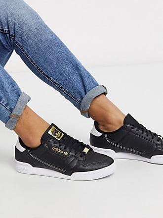 adidas Originals Continental 80 - Schwarze Sneaker mit goldenem Logo