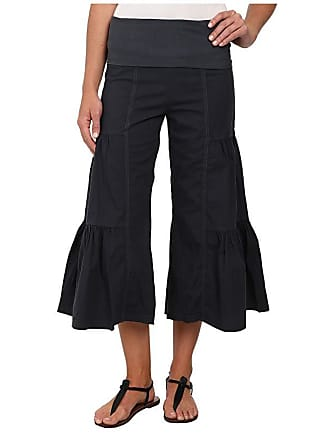 Xcvi Cropped Side Tier Palazzo (Charcoal) Womens Casual Pants