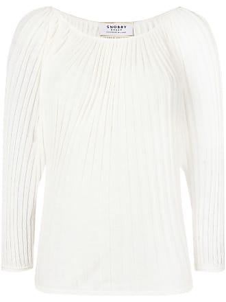 Snobby Sheep Suéter de tricô canelado - Branco